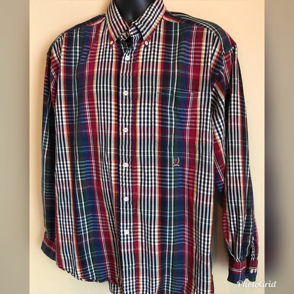 d3c5a844 Tommy Hilfiger Shirts   Plaid Button Down Long Sleeve Shirt   Poshmark